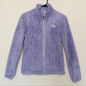 THE NORTH FACE | Lavender Purple Fuzzy Zip Jacket